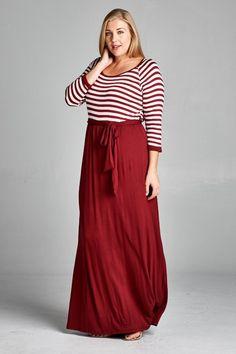 Online Clothing Boutique | Kelly Brett Boutique - Plus Size Maxi Dress Classic Cranberry, $42.00 (http://www.kellybrettboutique.com/plus-size-maxi-dress-classic-cranberry/)