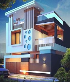 Modern Architecture Design Ideas To Inspire You — Home Design Ideas Bungalow House Design, House Front Design, Cool House Designs, Modern House Design, House Architecture Styles, Modern Architecture Design, Arch Architecture, Modern Minimalist House, Home Building Design