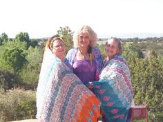 This gorgeous scarf photo was taken in Sedona, Arizona. As you can see our scarves get around! On the left is Kathi Wight Butt, in the middle, shaman Isabella Leigh Stoloff, and on the right Karen Farberow. Talk about spirited women! Each one is wearing a different color Painted Muse. Don't you just love it? www.thespiritedwoman.com/prayer_scarf