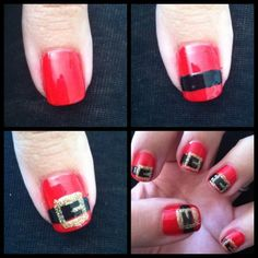 Easy Christmas Nail art.