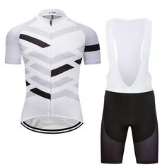 2018 Race Men's Cycling Jersey Bib Shorts Set Pad Bike Simple Style Short Sleeve #Rainsports