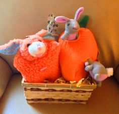 BUNNY FUN Dog Gift Basket by HappyDogGoodies on Etsy, $14.99