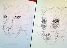 #panther  http://juliagrad.tumblr.com/ #Art #Print #Design #wear and #accessories #fashion #modern #style #look #drawing #ink #animal  Professional art printing for wear and accessories