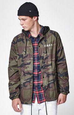 Camouflage Hooded Coach Jacket