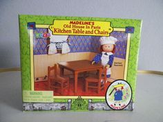 MADELINE'S OLD HOUSE IN PARIS DOLL FURNITURE KITCHEN TABLE CHAIRS EDEN 2000 NIB  #HousesFurniture