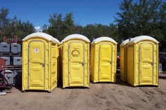 Four (if you look close seven) Friendly Portable Toilets from Alberta - keep up the good work Stewart Sales & Rentals :)