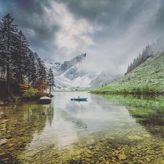I spent my last days in Switzerland roaming around in the Snow  Rain and Mud with @kitkat_ch . I had always wanted to see this lake. The steep pointed mountains and serrated rock ridges that surrounded it made it feel wild and remote.  After the 1.5 hour hike in. I'd hoped for better weather but couldn't complain much with the eerie conditions we got. It made for an empty serene experience.  Thanks again Martina for showing me around. I've always felt that the best way to see a place is from…