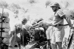 Vichy artillery in action in Syria.