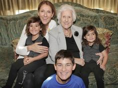 """Bonne fête à toutes les mamans!"" --Celine Dion, who posted this photo of her mom and sons on May 10, 2015"