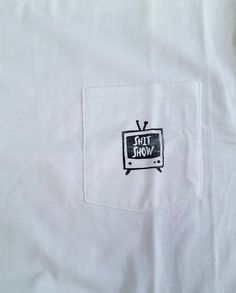 Cool and grungy graphic tee shirt pocket tee print / tv