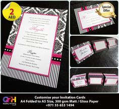 Invitation Cards A5 for AED 2