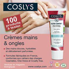 Inscrivez-vous et vous ferez peut-être partie des 100 personnes sélectionnées pour recevoir et tester ce produit. En savoir plus sur http://www.beaute-test.com/service/test_produit_coslys-soin-onctueux-mains-ongles---nutri-confort.php#ffc4Gb0j4YHpMRwz.99