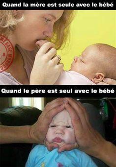 Seul avec le bébé