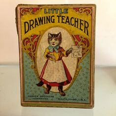Little Drawing Teacher circa 1900 by Parker Brothers...CHARMING!