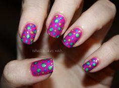rebecca likes nails: dots on dots