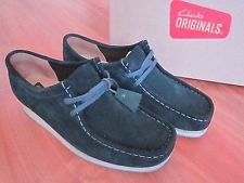 Mens GREEN Suede CLARKS ORIGINALS WALLABEE SHOES (uk6.5) ~L@@K MINT WORN ONCE~