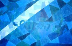 monochromatic painting