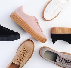 The minimalist sneaker is dead - this season browse the Public Desire collection of ugly chunky sneakers. Think dad sneakers but bolder! Sock Shoes, Cute Shoes, Me Too Shoes, Shoe Boots, Puma Creepers Outfit, Everyday Shoes, Kinds Of Shoes, Crazy Shoes, Pumps