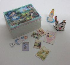 Dollhouse miniature Alice in Wonderland box scale 1/12 by Teruka,