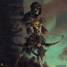 Medieval skeleton warrior art by Markus Neidel archer | Create your own roleplaying game books w/ RPG Bard: www.rpgbard.com | Dungeons and Dragons Pathfinder RPG Warhammer 40k Fantasy Star Wars Exalted World of Darkness Dragon Age 13th Age Iron Kingdoms Fate Core Savage Worlds Shadowrun Call of Cthulhu Basic Role Playing Traveller Battletech The One Ring d20 Modern DND ADND PFRPG W40K WFRP COC BRP DCC TOR VTM GURPS science fiction sci-fi horror art creature monster character design