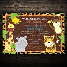 Zoo Invitation  Birthday Invitation  Baby Shower
