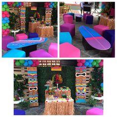 Área lounge con mesas de surf para acompañar nuestro Candy bar #esmeraldapena #cocodrilandia ...