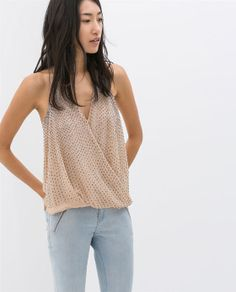 Image 2 of CROSS OVER STRAPPY TOP from Zara