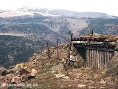 French outpost on the Hartmannswillerkopf in the Vosges. BUNKERS AND STRONGPOINTS
