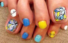 Diseños para uñas de los pies, Diseño de uñas de los pies moda.  Unete al CLUB #decoraciondeuñas #3dnailart #uñasdemoda