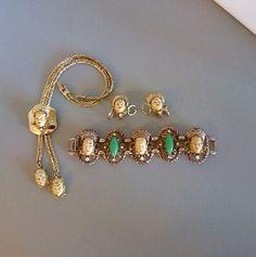 Selro Exotic faces parure, necklace, bracelet, earrings
