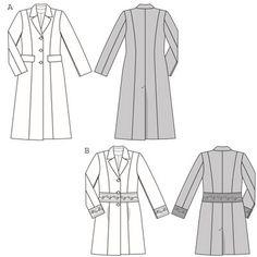 disegno tecnico giacca donna