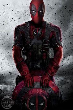 #Deadpool #Fan #Art. (Captain Deadpool) By: Jessica Perez. ÅWESOMENESS!!!™ ÅÅÅ+