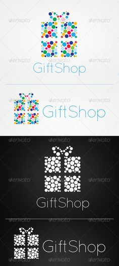 Gift Shop Logo: Symbol Logo Design Template created by Gift Logo, Best Gifts For Mom, Denim Look, Logo Sign, Shop Icon, Symbol Logo, Shop Plans, Shop Logo, Tiny Tattoo