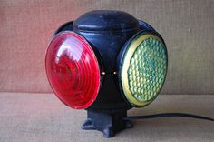Vintage Industrial Railroad Switch Light by PickersWarehouse