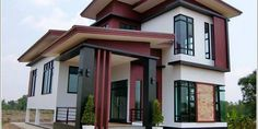 Get something new and different from a pronounced inspiring home. This eye catching house design with outstanding features will be a great concept for you. Beautiful House Plans, Beautiful Homes, Latest House Designs, Building Images, Minimalist Decor, Pinoy, Beautiful Bedrooms, Wall Wallpaper, Modern Bedroom