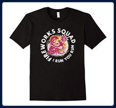 Mens Fireworks Squad I Run You Run Independence Day 4th T-Shirt Medium Black - Holiday and seasonal shirts (*Amazon Partner-Link)