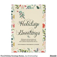 Corporate christmas card freelance web designer sydney front end floral holiday greetings business corporate card m4hsunfo