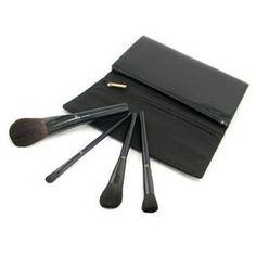 Cle De Peau  Exclusive Brush Set: Face Powder Brush + Concealer Brush + Blush Brush + Highlighter Brush + Case