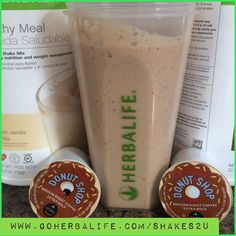 Herbalife shakes. Formula 1 vanilla with donuts shop k cups for the coffee lovers
