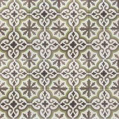 Floor cement tiles (green bathroom)