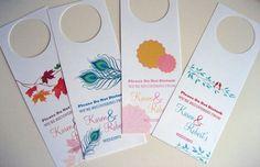 Reserved for Jennifer Custom Wedding Door Hangers by designedbyme, $42.00