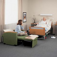 Chair sleeper bed which is ideal for residence patient room or