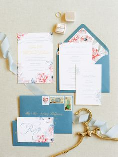Colorful floral wedding stationery | Photography: Rachel Solomon