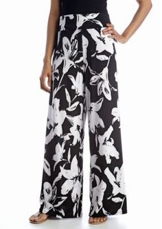 New Directions  Flower Printed Palazzo Pant