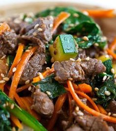 Korean Beef Rice Bowl - will also use marinade with ground meats and slow cooker