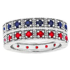 Sterling Silver Custom Stackable Eternity Gemstone Ring Available Exclusively at Gemologica.com