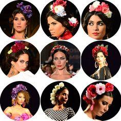 Flamenca coronas flores