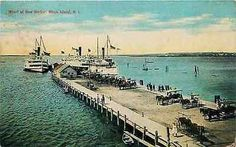 Block Island Rhode Island RI 1908 Wharf New Harbor Antique Vintage Postcard - Moodys Vintage Postcards - 1