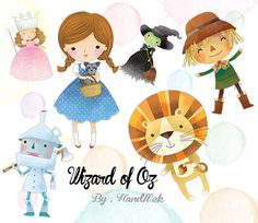 Wizard of Oz clipart: Instant Download PNG file  300 by HandMek