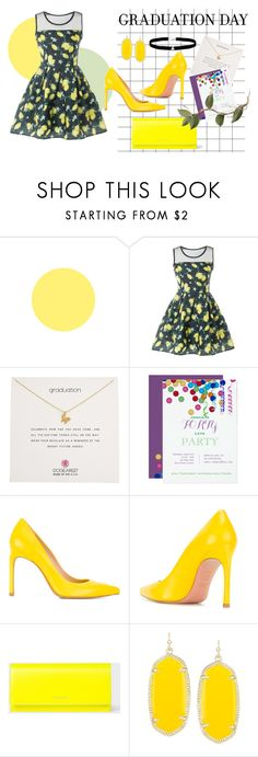 """""""Graduation"""" by bettismy ❤ liked on Polyvore featuring Dogeared, Stuart Weitzman, PS Paul Smith, Kendra Scott, Amanda Rose Collection, GetTheLook, Graduation, school and polyversary"""